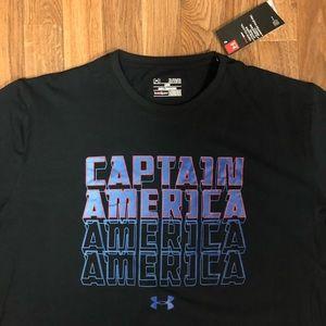 🇺🇸 NWT Under Armour Captain America Marvel Shirt